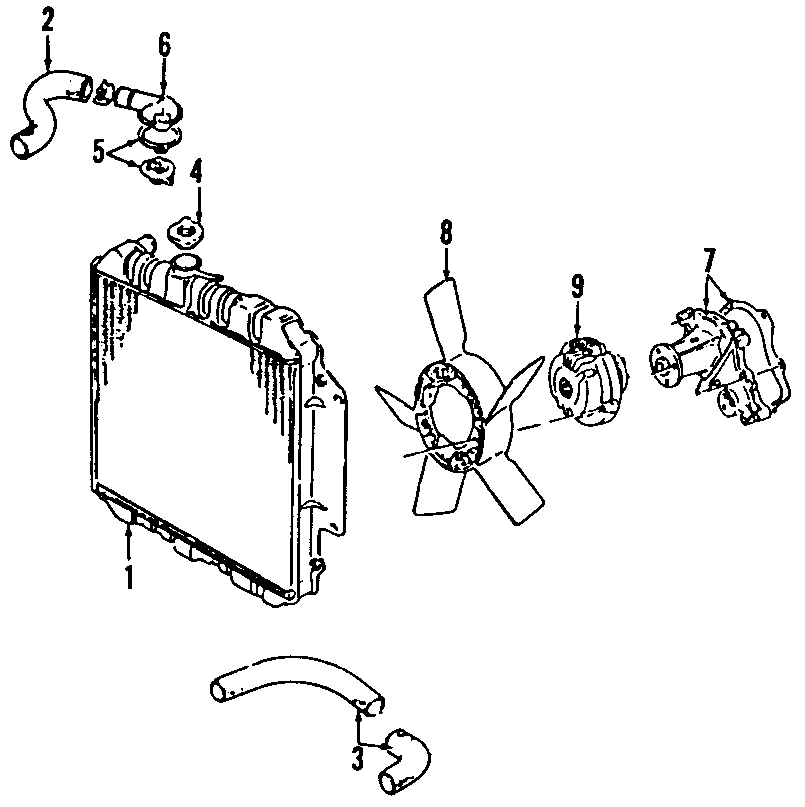 Chevrolet Tracker Engine Coolant Thermostat. 2.0 LITER