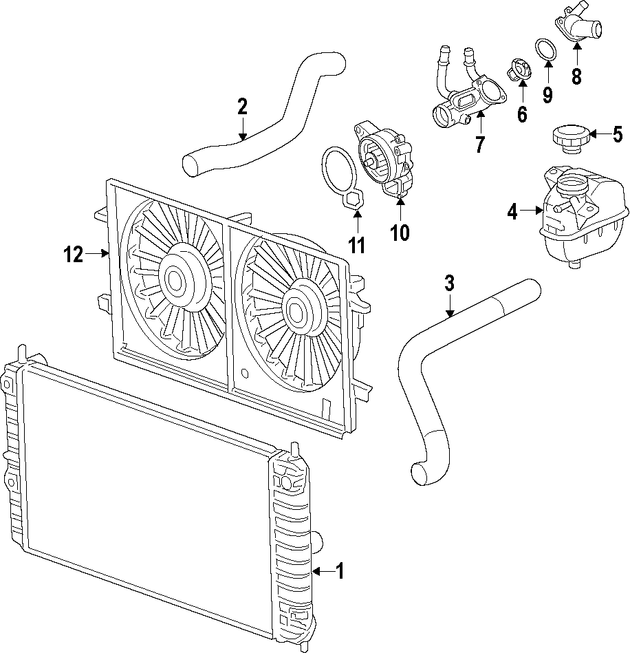 Chevrolet Malibu Engine Cooling Fan Blade. 2.2 LITER. 2.4