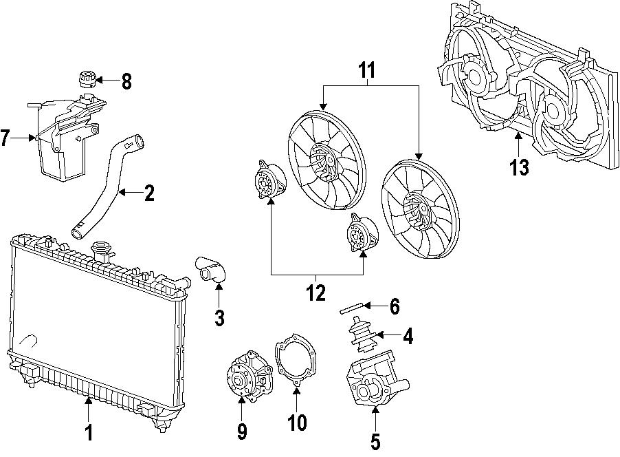 Chevrolet Camaro Radiator Coolant Hose (Upper). 3.6 LITER