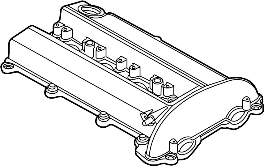 Chevrolet Cobalt Engine Valve Cover. 2.0 LITER. 2.0 LITER