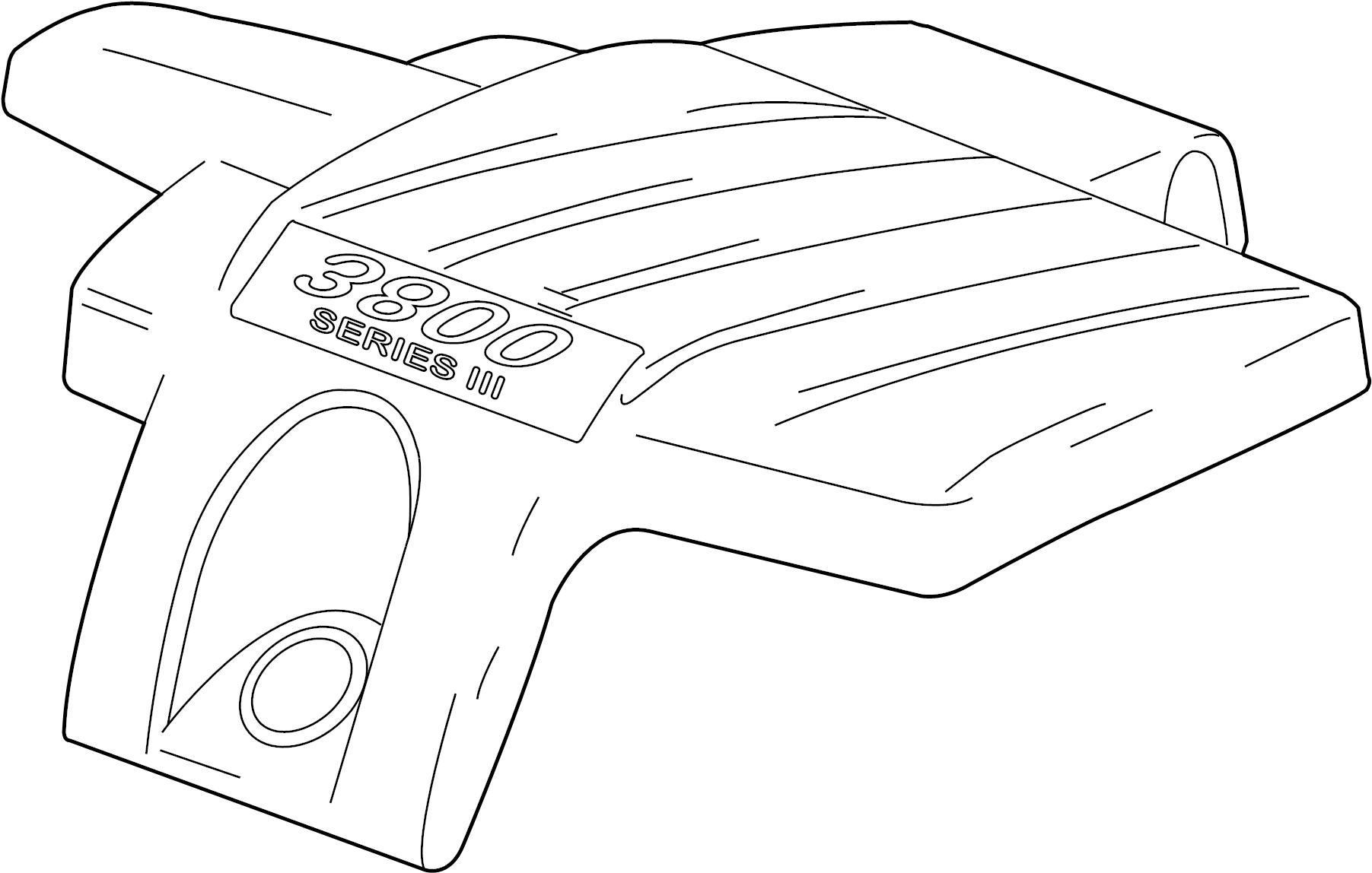 Pontiac Grand Prix Engine Cover. 3.8 LITER. 3.8 LITER, w/o