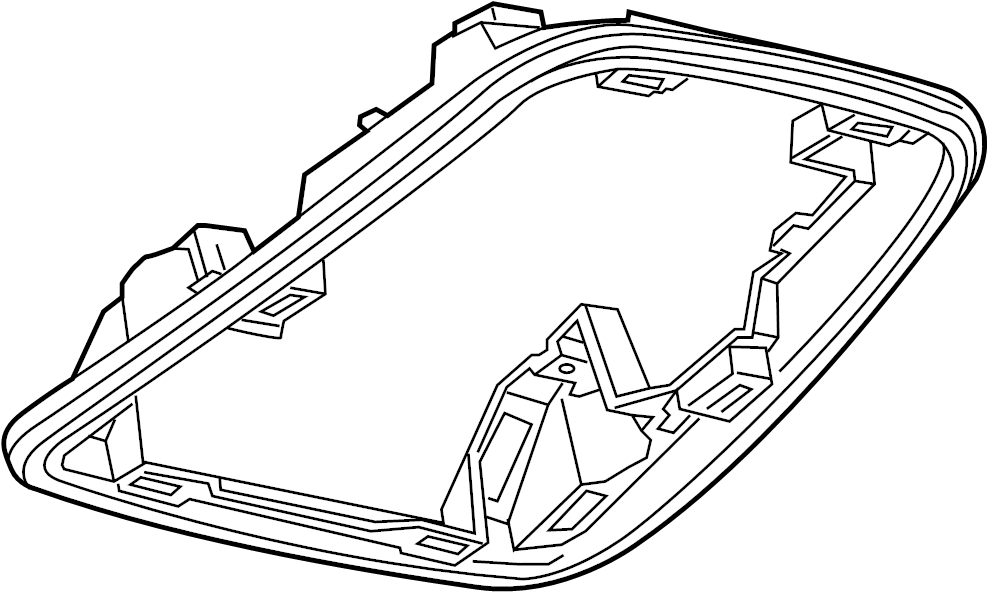 Buick Regal Console Bracket (Right, Front, Upper, Lower