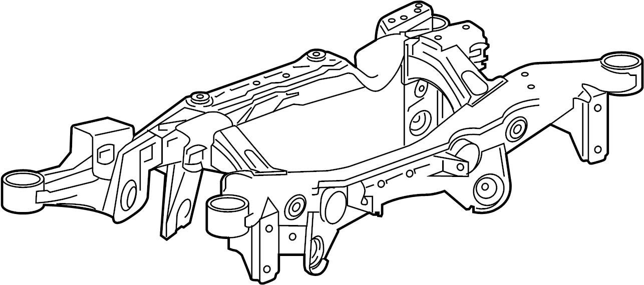 Buick Regal Suspension Subframe Crossmember (Rear). AWD. W