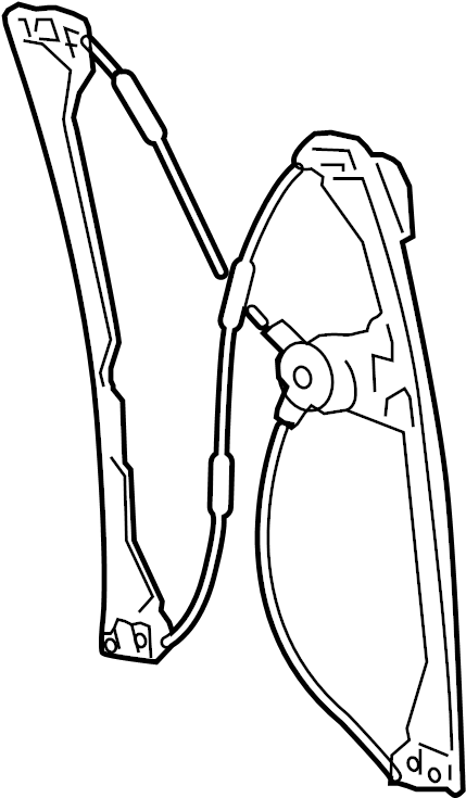 Buick LaCrosse Regulator. (Front). LaCrosse; Left