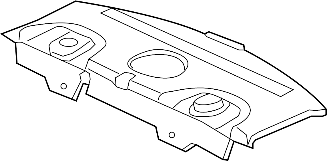 Cadillac DTS Package Tray Trim. PACKAGE TRAY, w/sunshade