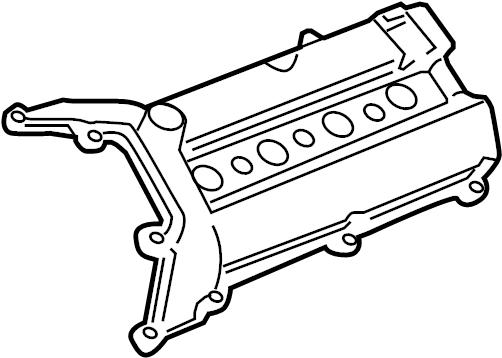 Cadillac SRX Engine Valve Cover. 4.4 LITER. 4.6 LITER. SRX