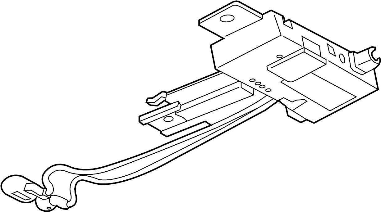 Cadillac CTS Radio Antenna Module. COUPE, W/O DIGITAL