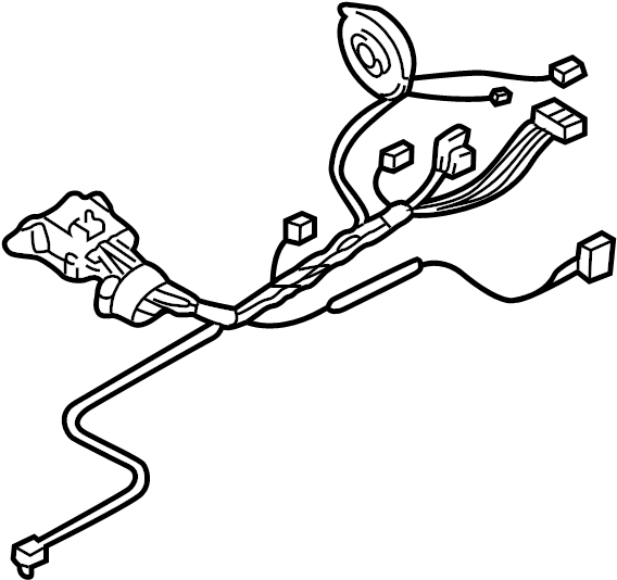 Cadillac CTS Steering Column Wiring Harness. Auto trans