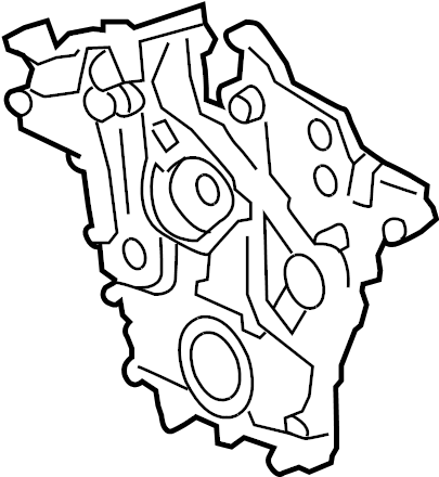 Cadillac CTS Engine Timing Cover (Front). 2.8 & 3.6 LITER