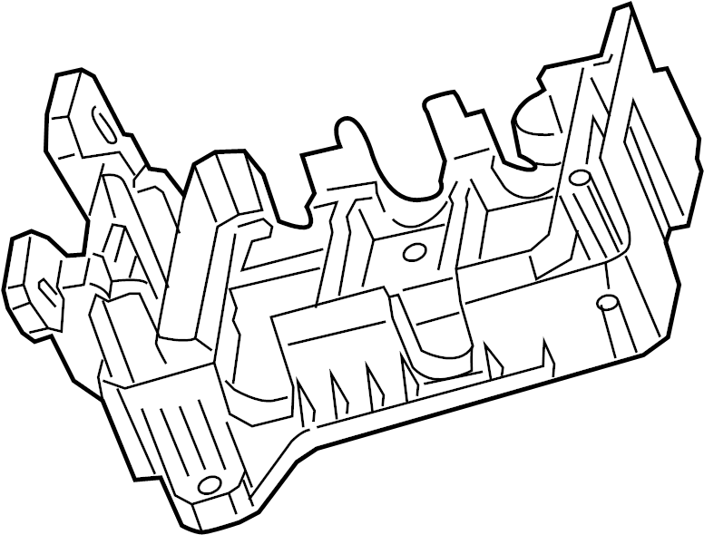 Cadillac CTS Fuse and Relay Center Bracket. ENGINE