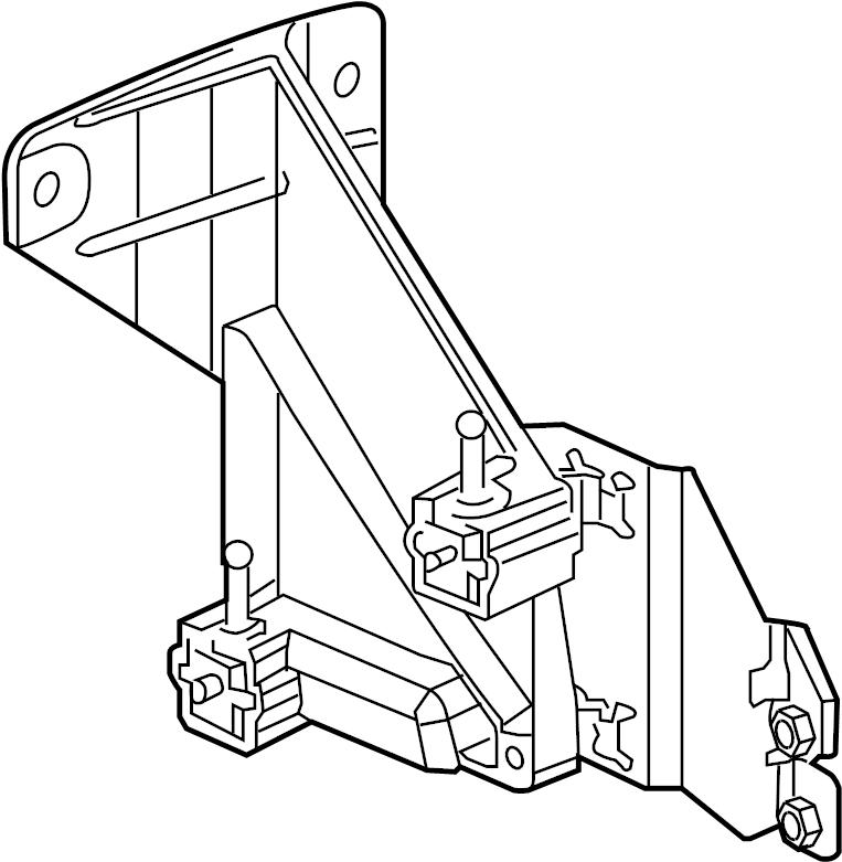 Cadillac XLR Cruise Control Distance Sensor Bracket. 2004