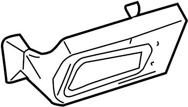 Chevrolet Corvette Cabin Air Filter Case. Filter. HOUSING
