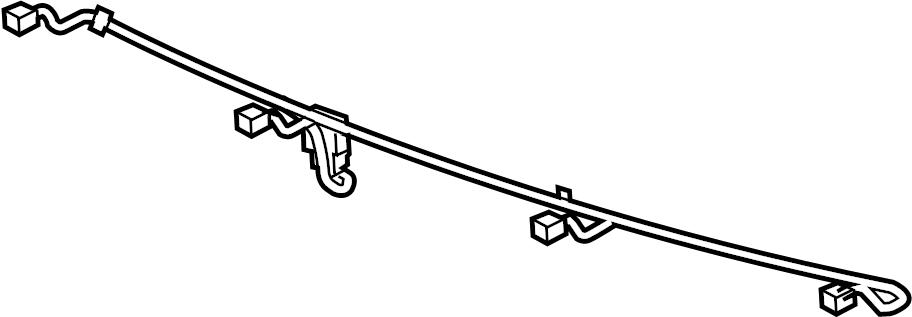 Cadillac SRX Harness, Object Sensor Wiring. (Rear