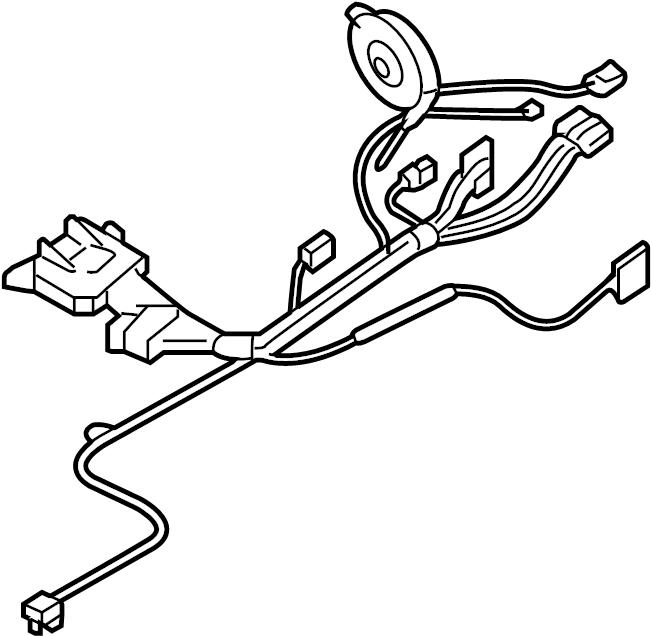 Cadillac SRX Steering Column Wiring Harness. SRX; w/o