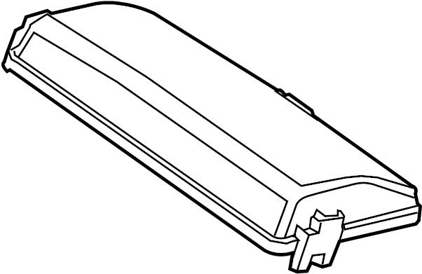 Cadillac SRX Fuse Box Cover. Liter, COMPARTMENT, ENGINE