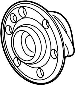 Chevrolet Traverse Wheel Bearing and Hub Assembly (Front