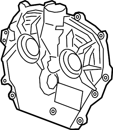 GMC Acadia Engine Timing Cover (Front, Upper). 2.0L
