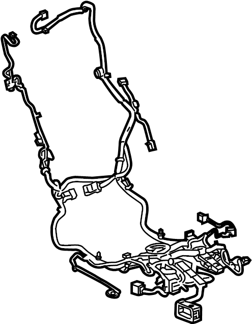 Cadillac ELR Power Seat Wiring Harness. W/o cushion