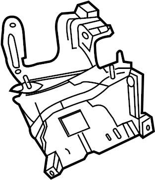 Chevrolet Caprice Fender Apron Bracket. Fuse block