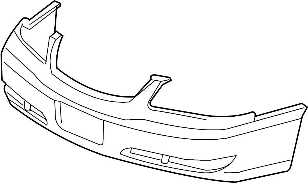 Chevrolet Impala Bumper Cover (Front, Upper, Lower). W/O