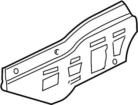 Chevrolet Monte Carlo Shield. (Front, Lower). 3.5 & 3.9