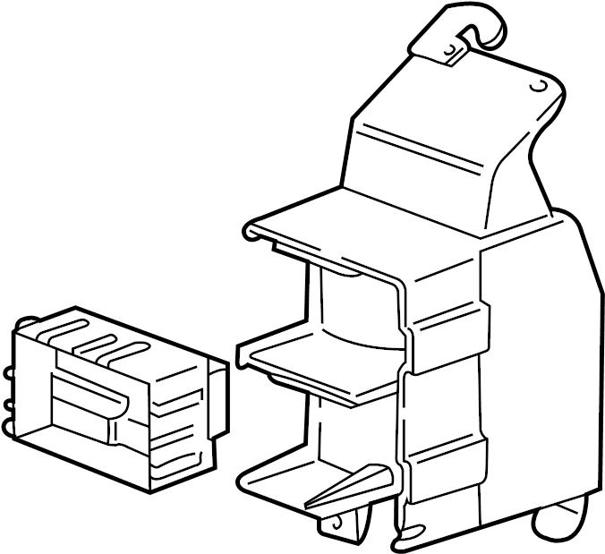 Chevrolet Monte Carlo Fuse Box Bracket. Engine room. FUSE