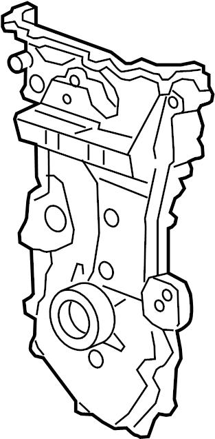 Chevrolet Malibu Engine Timing Cover (Front). 2.5 LITER