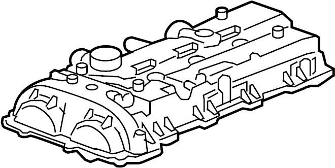 Chevrolet Malibu Engine Valve Cover. 2.5 LITER. Impala
