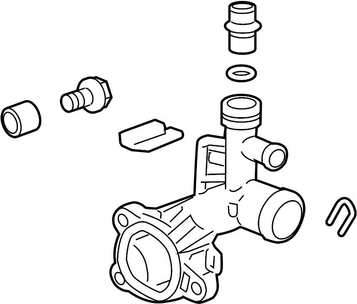 Chevrolet Sonic Engine Coolant Outlet Flange. 1.4 LITER