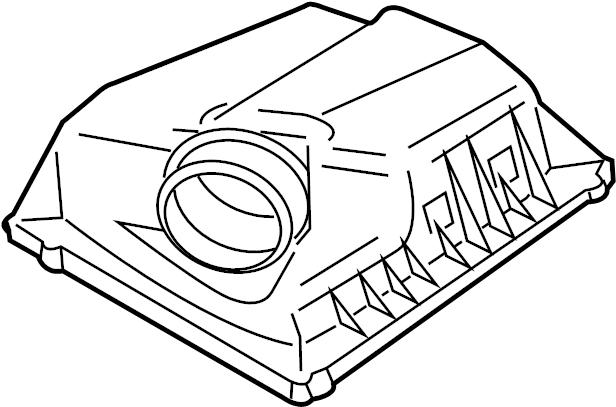 Chevrolet Cruze Air Filter Housing (Upper). 2.0 LITER