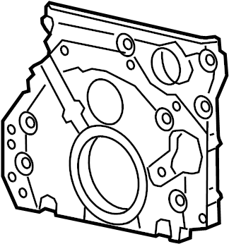 Chevrolet Equinox Engine Timing Cover (Front, Lower). 1.6