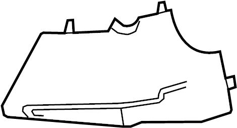 Chevrolet Camaro Steering Column Cover (Lower). Camaro