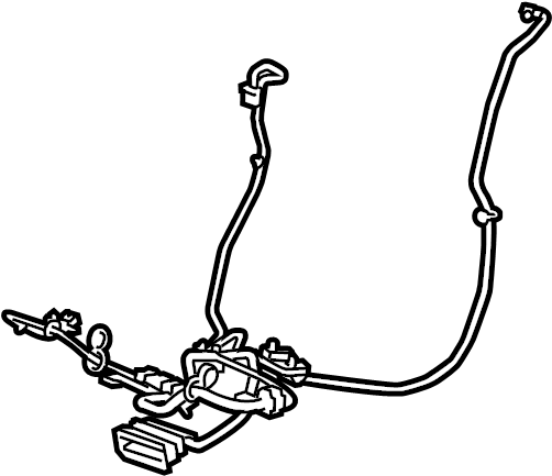 Chevrolet Camaro Power Seat Wiring Harness. RECARO, Left