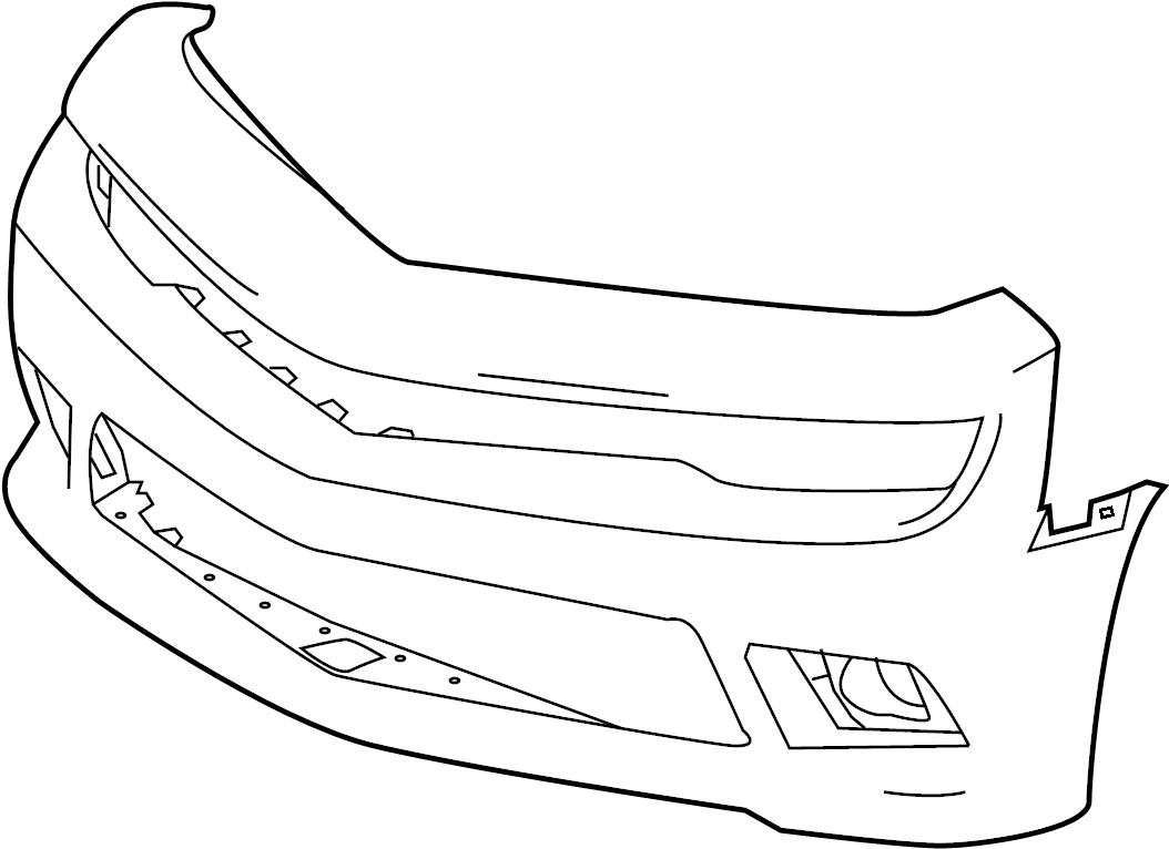 Chevrolet Camaro Bumper Cover (Upper, Lower). W/Z28