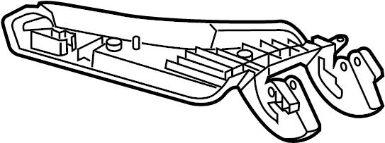 Chevrolet Camaro Console Hinge. CONSOLE & COMPONENTS