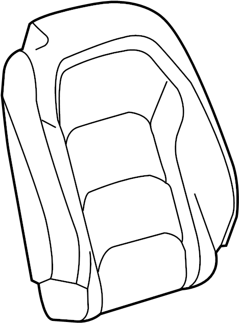 Chevrolet Camaro Seat Back Cover. W/O RECARO SEAT, leather