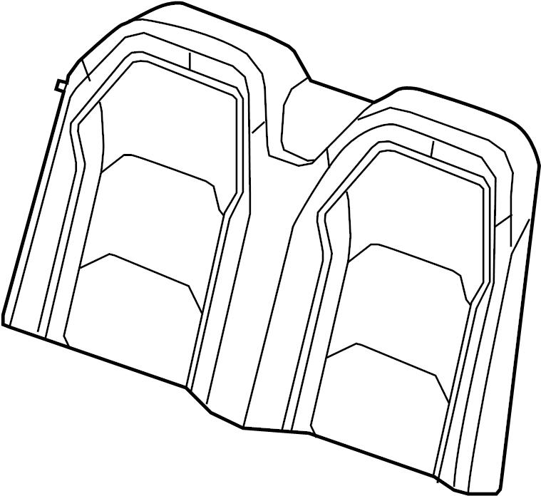Chevrolet Camaro Seat Back Cover. CONVERTIBLE, cloth, gray