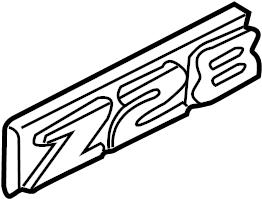 Chevrolet Camaro Fender Emblem. Z28, 35th anniversary
