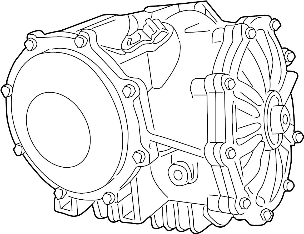 Chevrolet Corvette Differential Carrier. Manual, Trans