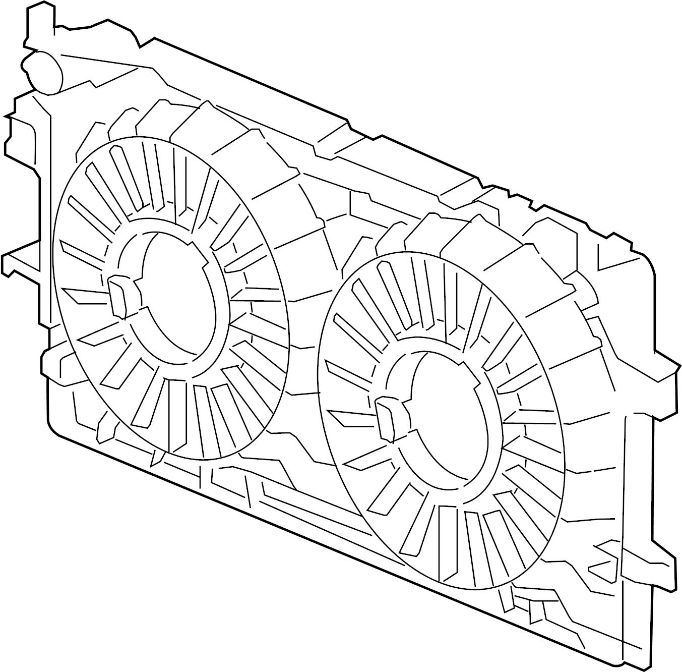 Chevrolet Monte Carlo Engine Cooling Fan Shroud