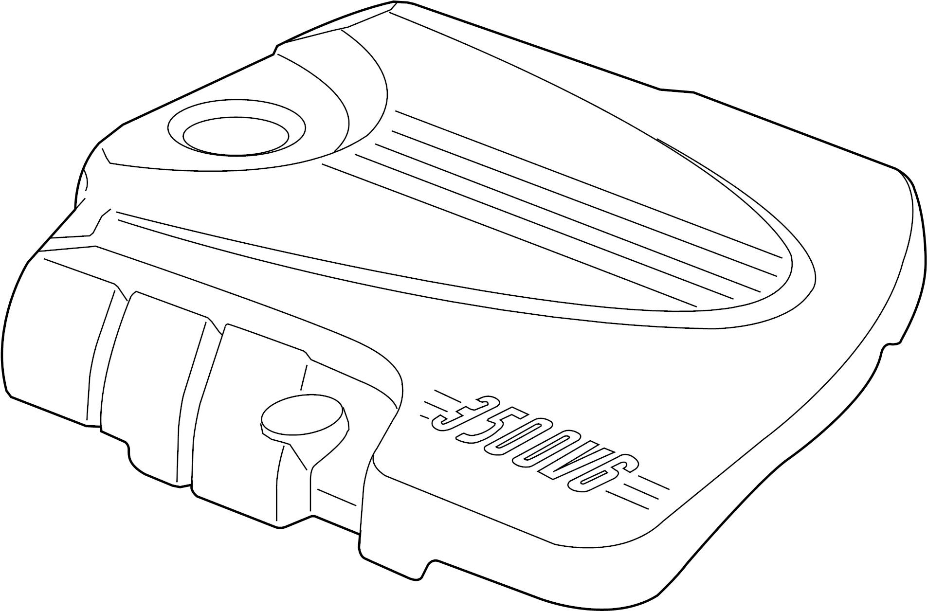 Chevrolet Monte Carlo Engine Cover. 3.5 & 3.9 LITER, 3.5