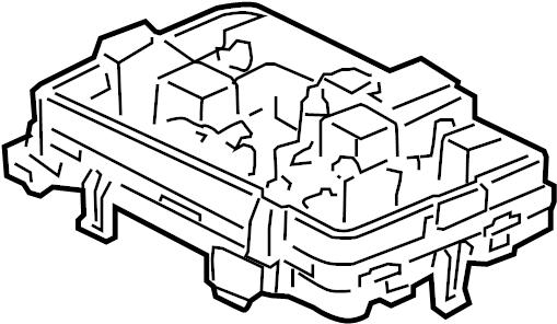 Chevrolet HHR Fuse Box. UNDERHOOD, LS, w/o panel van