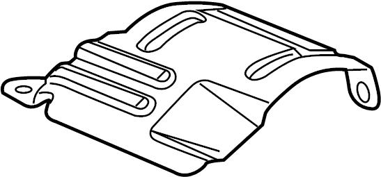 Pontiac G5 Cv joint splash shield (front). Coupe,. Sedan