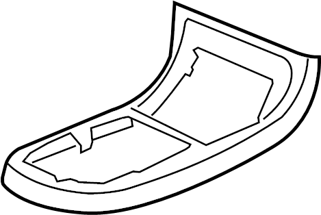 Chevrolet HHR Console Trim Panel (Upper). LT & LS MODEL