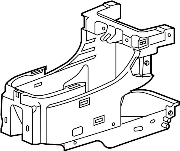 Chevrolet HHR Console Bracket. LT & LS MODEL. SS MODEL