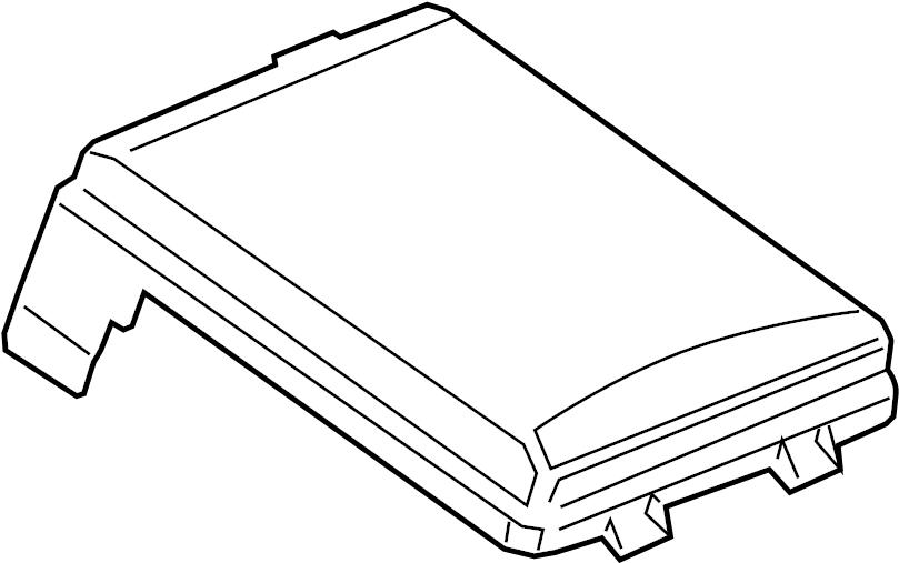 Chevrolet Sonic Fuse Box Cover. 1.8 liter, w/PZEV. WPZEV