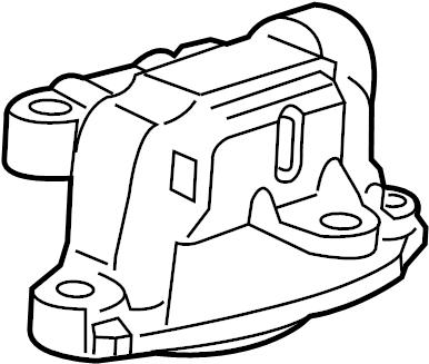 Chevrolet Sonic Engine Mount. LITER, Sport, Motor
