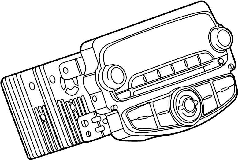 Chevrolet Sonic Radio Control Unit. W/satellite radio, w/o