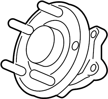 Chevrolet Trax Wheel Bearing and Hub Assembly (Rear