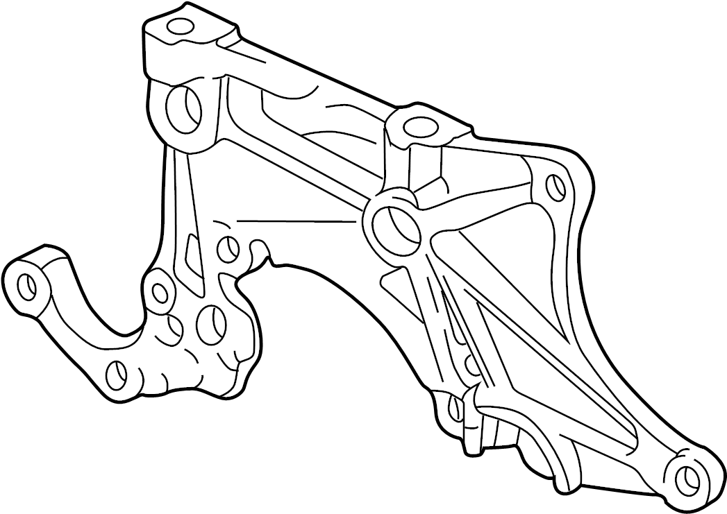 Chevrolet Cavalier Alternator Bracket (Front). 2.2 LITER